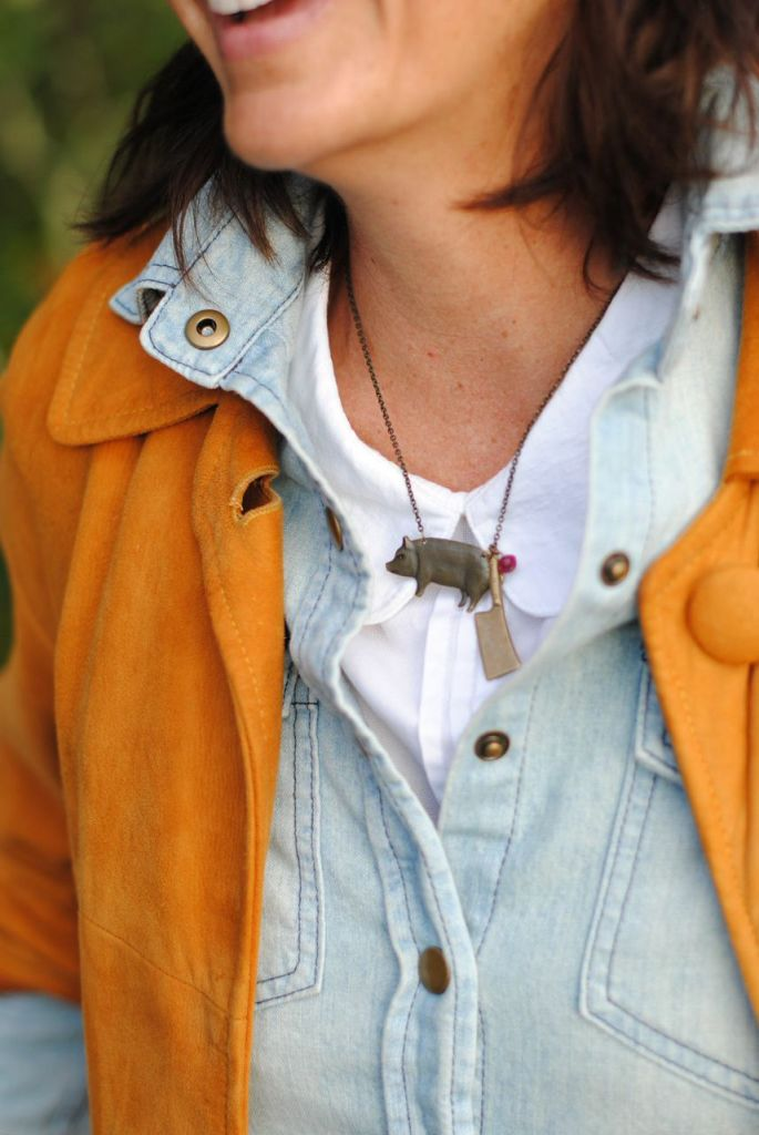 Pig and Cleaver Necklace