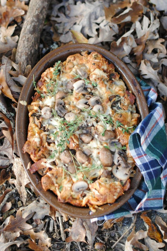 Libbie Summers Savory Mushroom and Bacon Bread Pudding
