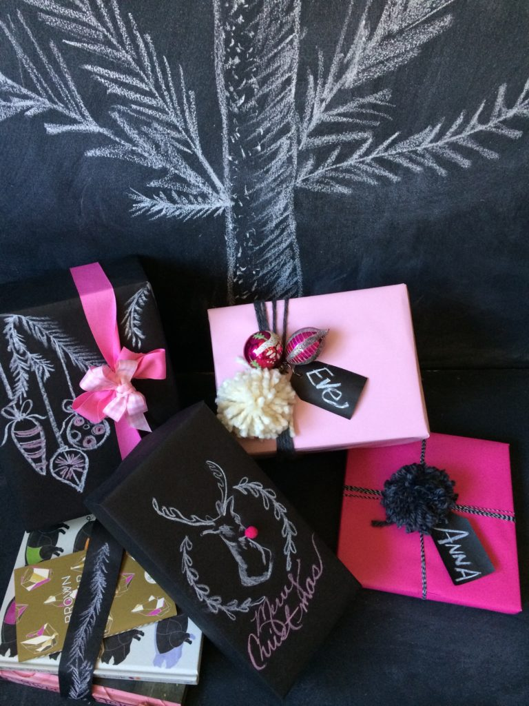 Fun Gift Wrapping Ideas using Chalk Board Paper