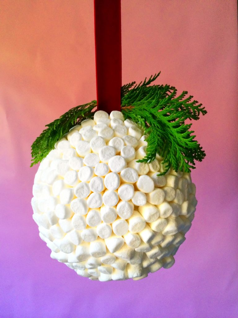 Marshmallow Kissing Ball