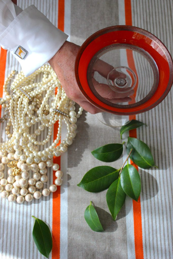 Making a pearl centerpiece from LibbieSummers.com