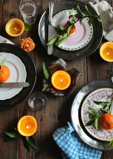 Citrus inspired table setting from Libbie Summers