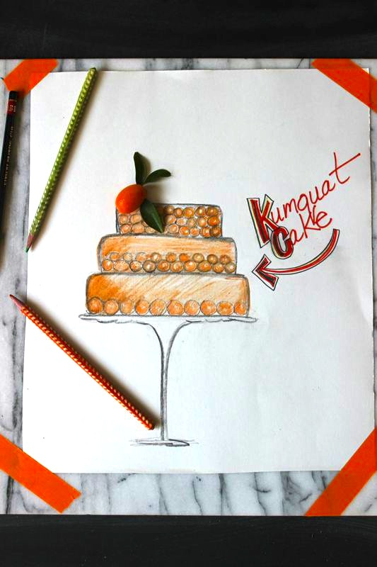 Kumquat Cake Sketch from LibbieSummers.com