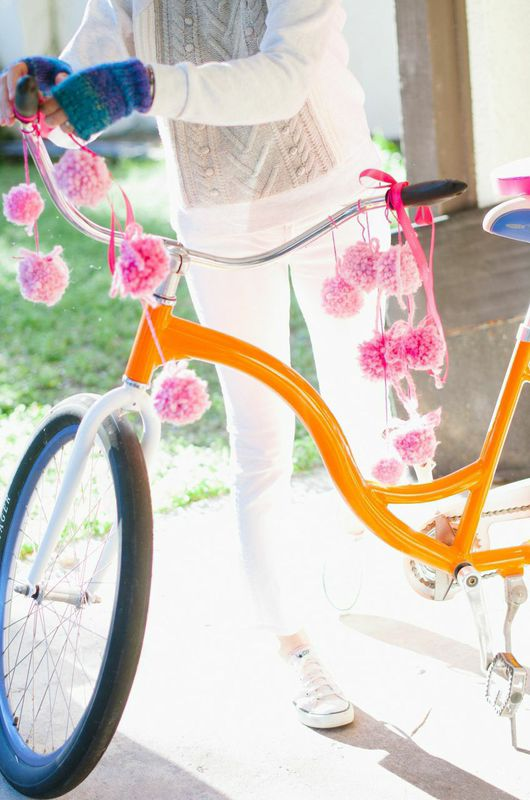 Pom Pom Decorated Bicycle from Libbie Summers