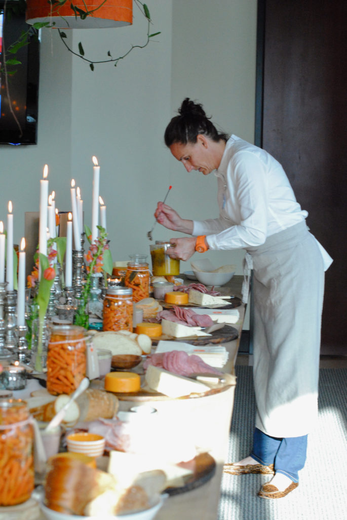 Setting a charcuterie table from Libbie Summers