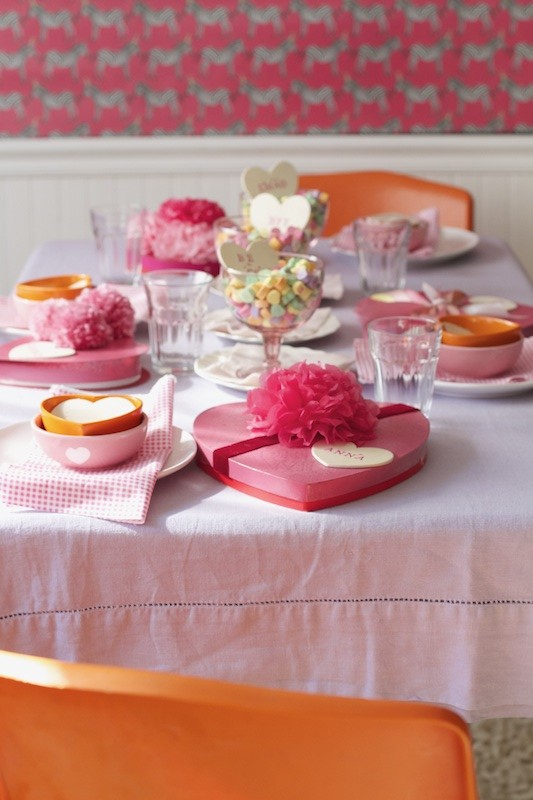 Valentine's Day Luncheon Table from Libbie Summers