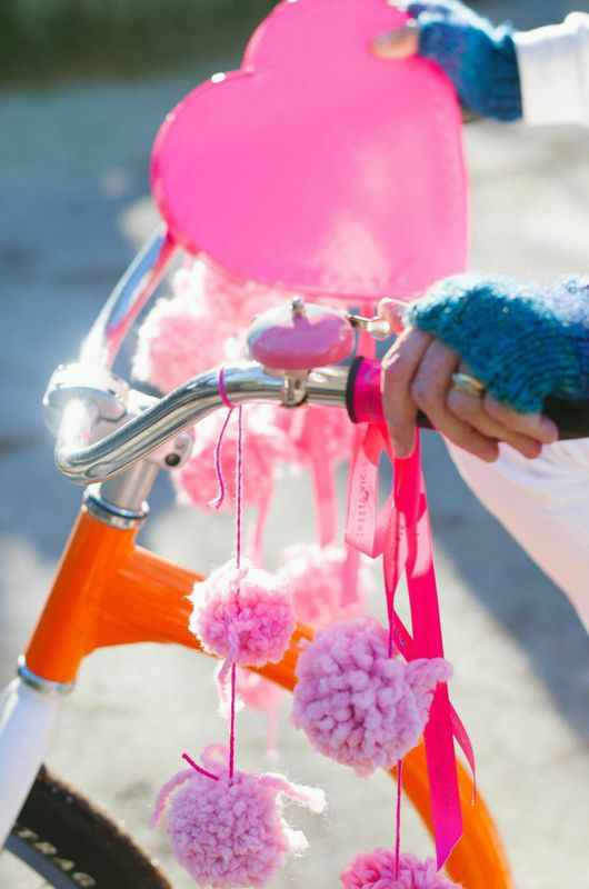 Pink Decorated Orange Bike from Libbie Summers