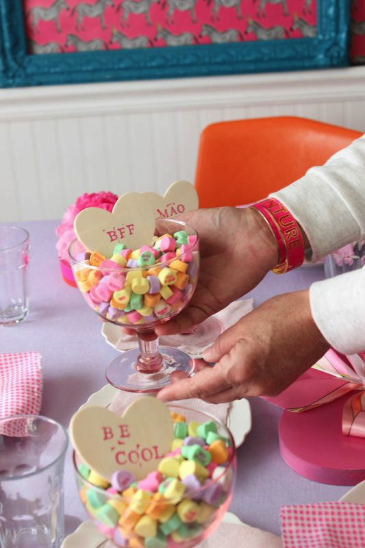 Candy Heart Centerpiece from Libbie Summers