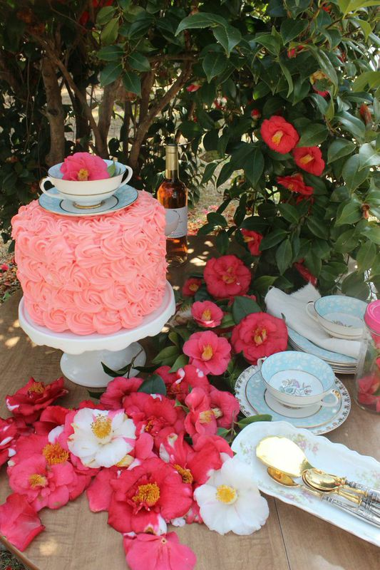 Camellia Cake Topper from Libbie Summers