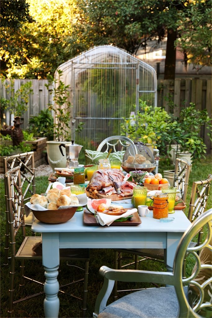 Backyard Ham and Biscuits Breakfast Party from Libbie Summers