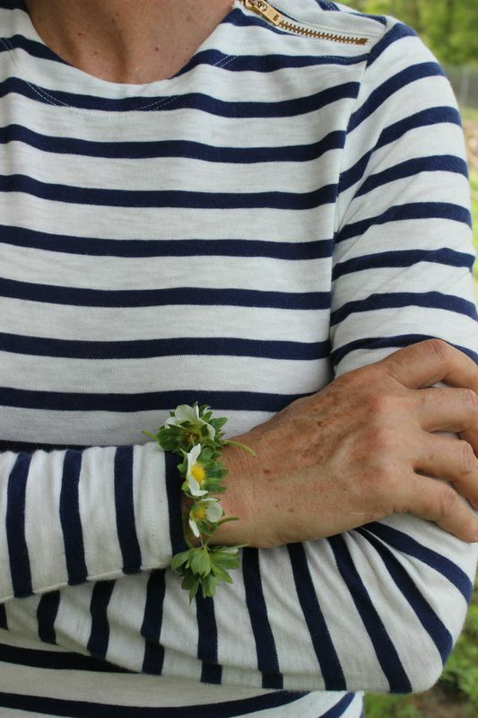 A strawberry Flower Bracelet from Libbie Summers