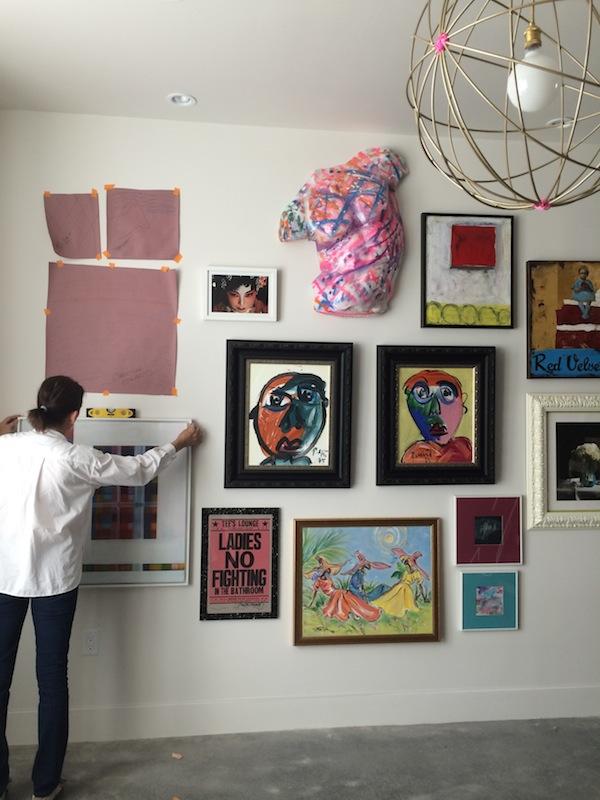 Artwall DIY from Libbie Summers