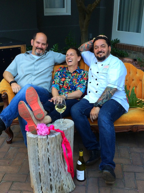Chef's Dusty Grove and Roberto Leoci with Libbie Summers
