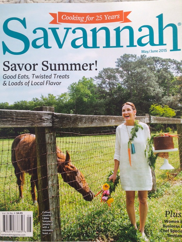 Savannah Magazine Cover with Libbie Summers