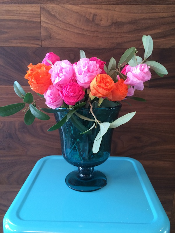 Crepe Paper Flower Bouquet from Libbie Summers