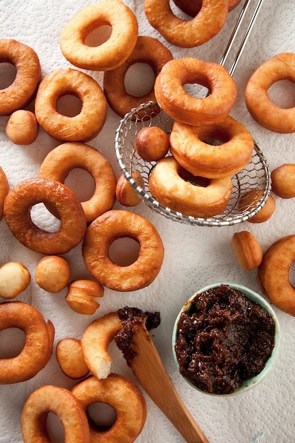 Dinnertime Donuts from The Whole Hog Cookbook by Libbie Summers (Photography by Chia Chong)