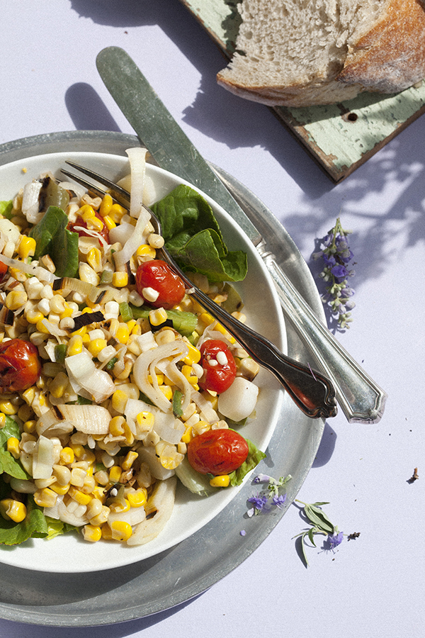Grilled Corn Salad (Brenda Anderson, Libbie Summers and Chia Chong for Salted and Styled)