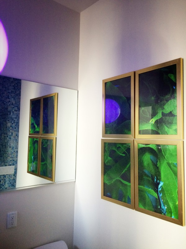 Blue Fish Series from Libbie Summers (framed by Framebridge, Photography by Chia Chong)