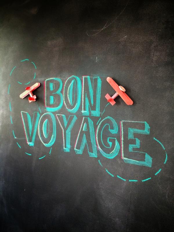 Bon Voyage Chalk Board from Libbie Summers