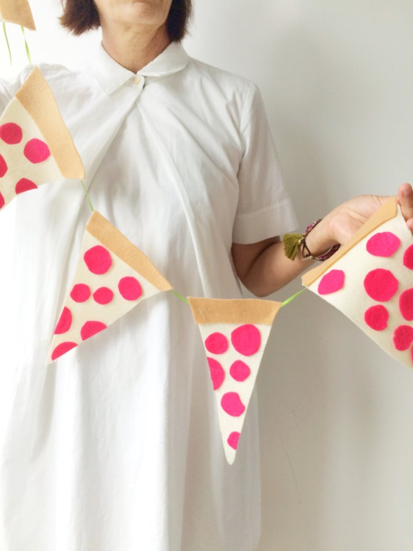 Pizza Pennant Banner from Libbie Summers