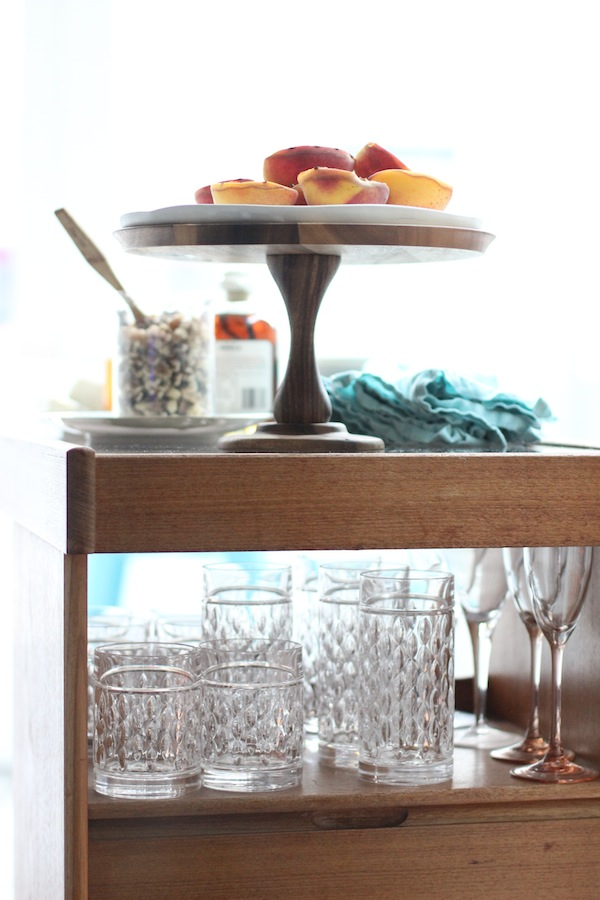 Bar Cart as a Dessert Cart from Libbie Summers