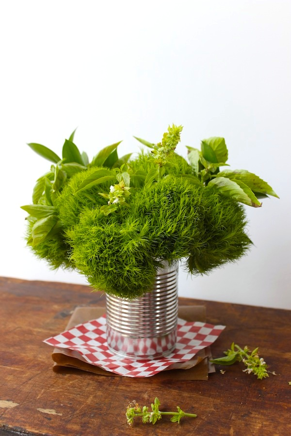 Tin Can Centerpiece from Libbie Summers for Pizza Party