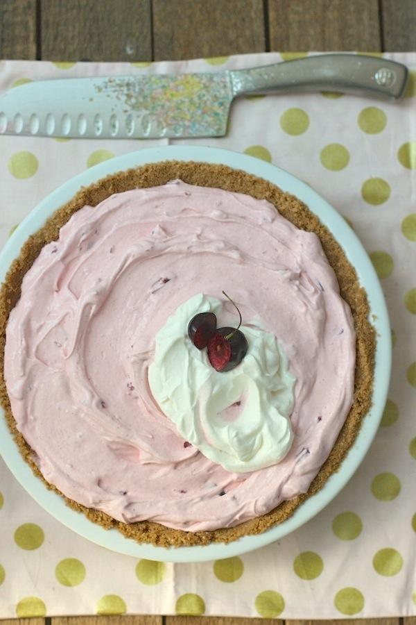 Cherry Bomb Ice Cream Pie from Libbie Summers