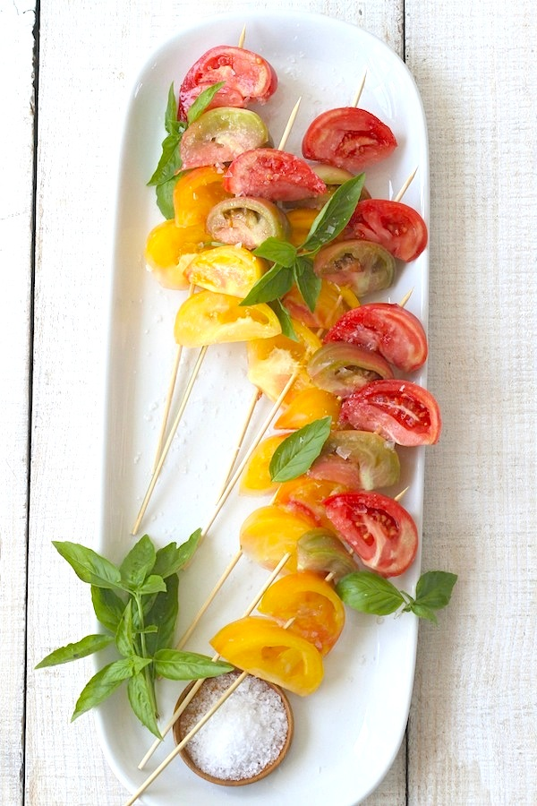 Libbie Summers Ombre Heirloom Tomatoes on a Stick