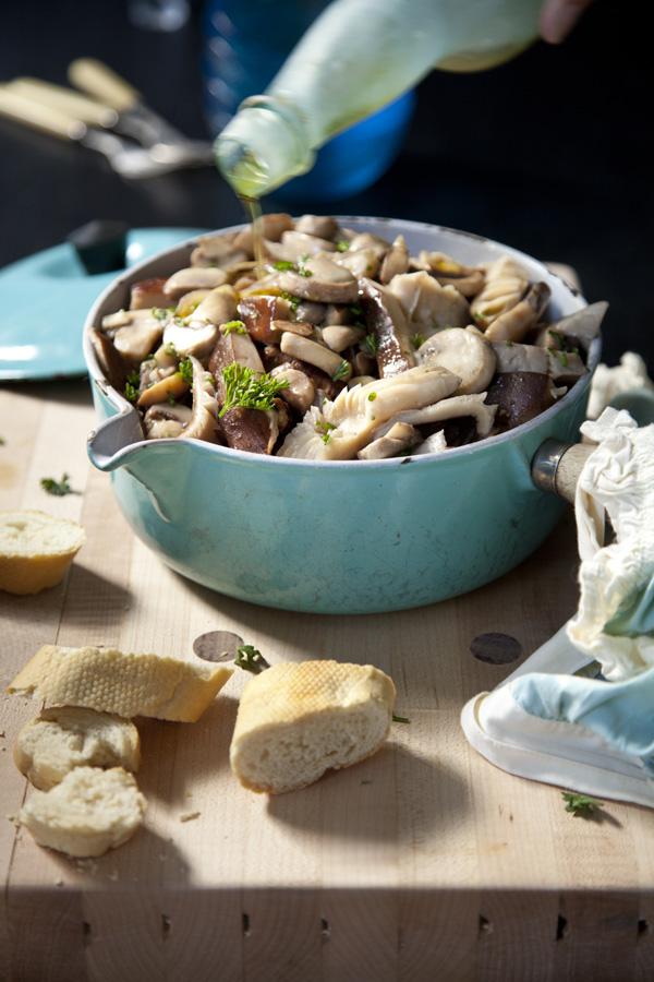 Herb and Garlic Sauteed Mushrooms