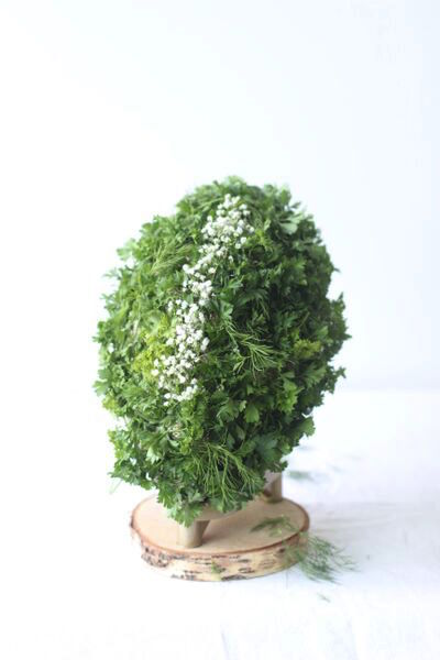Herbed Covered Football Centerpiece from Libbie Summers
