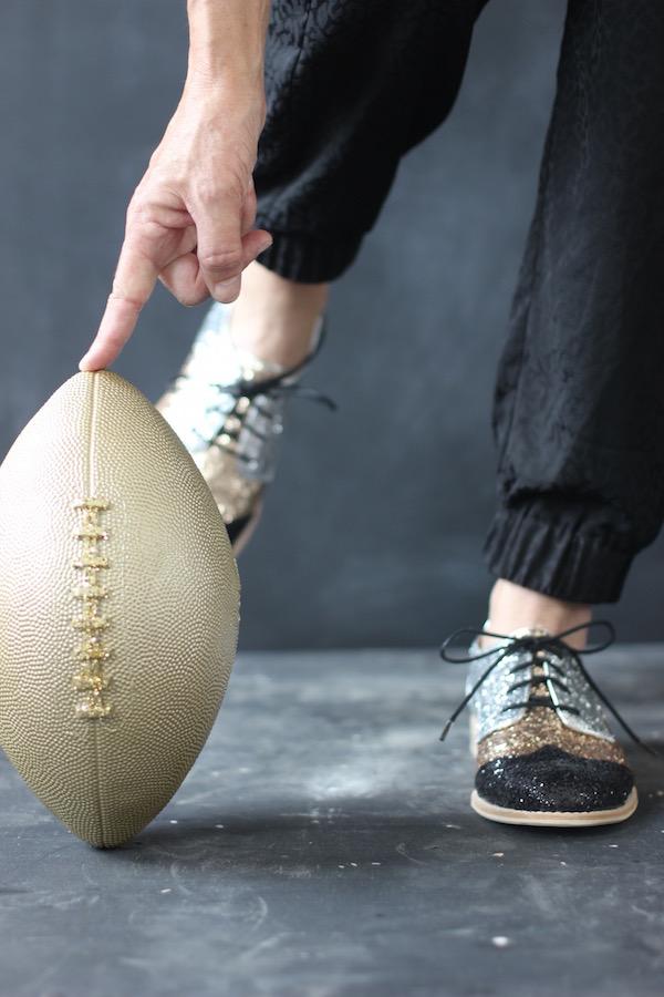 Glitter Football Kick from Libbie Summers