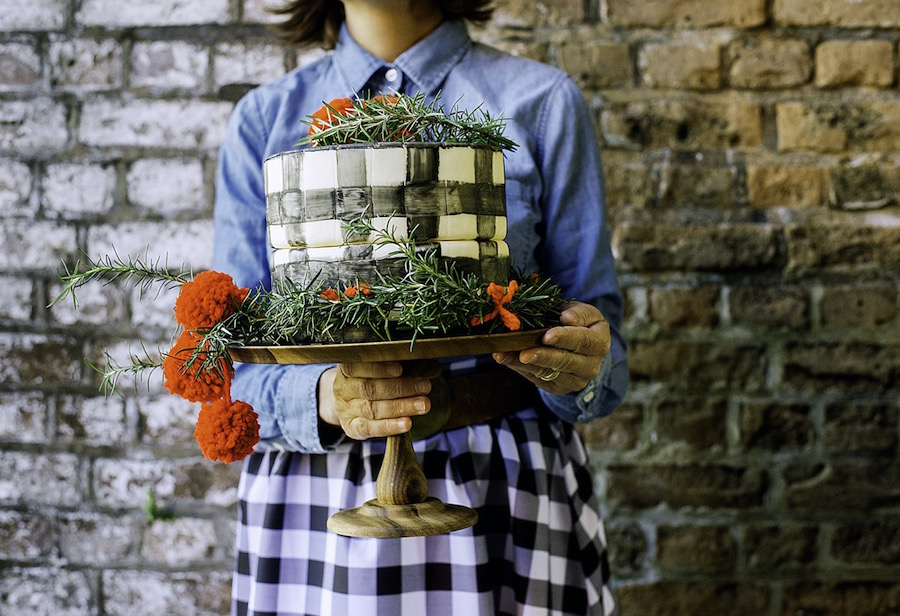 Plaid Cake from Libbie Summers (photography by ©2015 Cedric Smith)