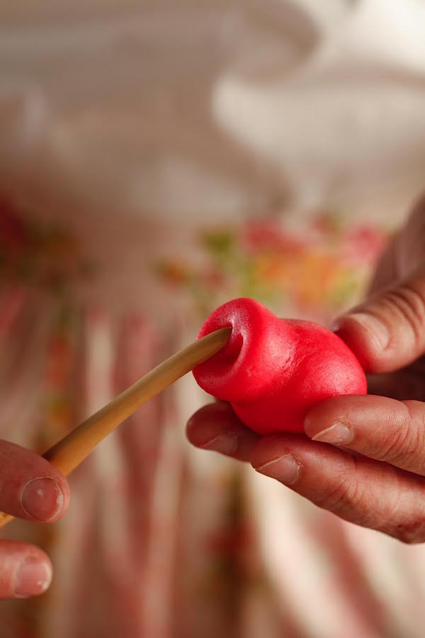 Making a Marzipan Pig Snout from Libbie Summers (photo by Chia Chong for The Whole Hog Cookbook)
