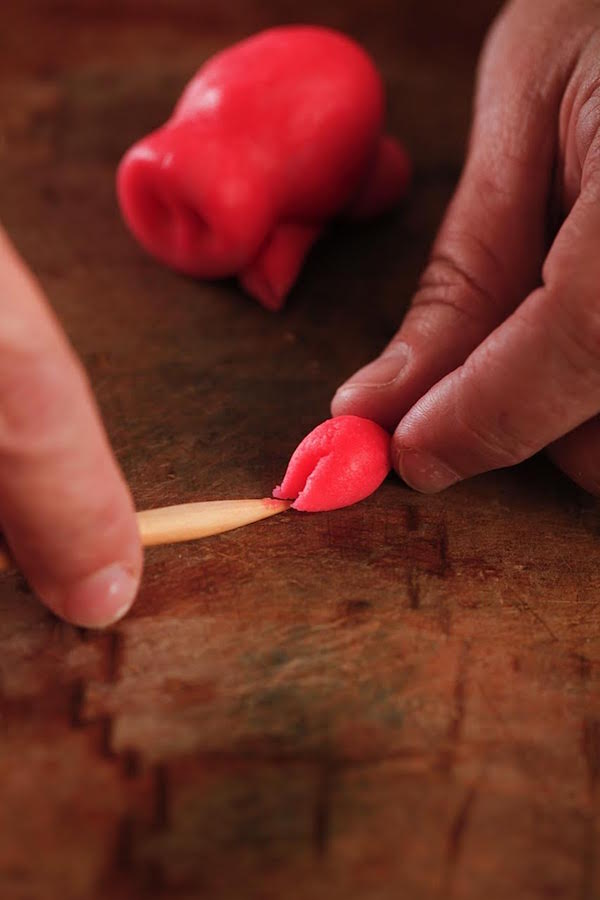 Making Marzipan Pig Hooves from Libbie Summers (photo by Chia Chong for The Whole Hog Cookbook)