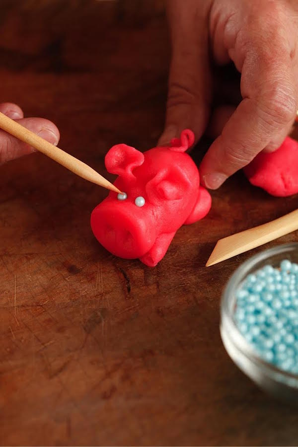 Marzipan Pig Molding from Libbie Summers (photo by Chia Chong for The Whole Hog Cookbook)