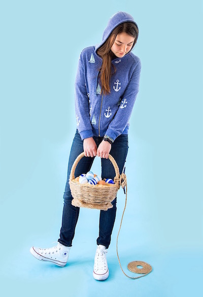 Hoodie Inspired Easter Baskets from Libbie Summers (photos by Cedric Smith)