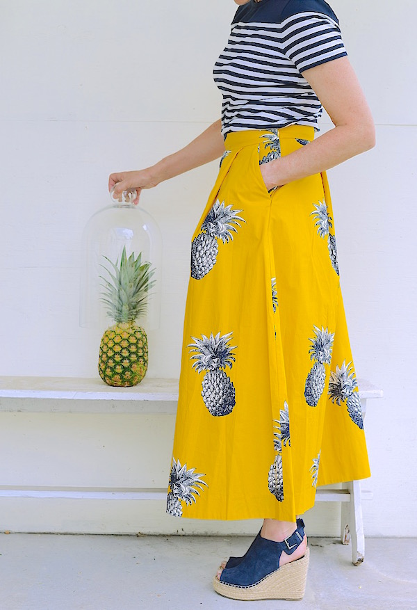 Friday Fashion Pineapple Skirt from Libbie Summers