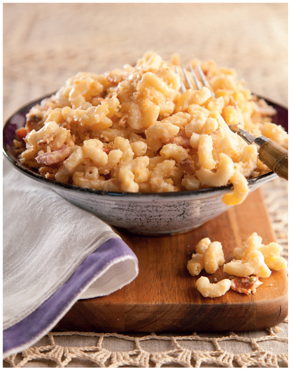 Libbie Subbed yogurt for cream cheese in this DELicious mac and cheese!