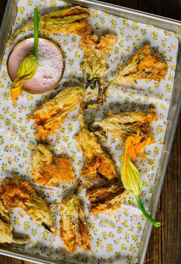 Tempura Fried Squash Blossoms