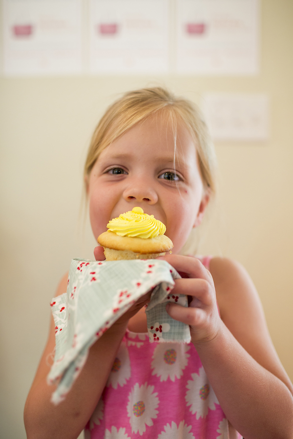 Cupcake, Girl eating cupcake, Lemonhead Cupcakes, A food-inspired life