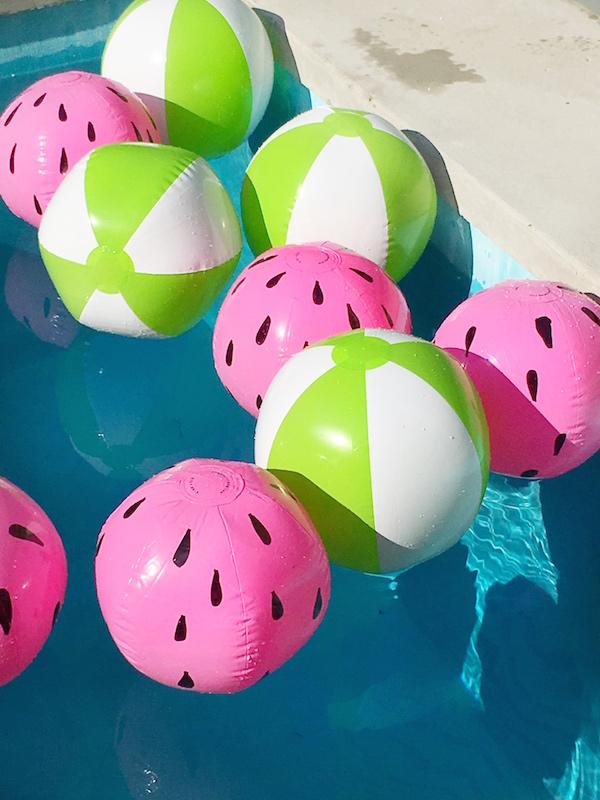 Pool Toys, Watermelon, DIY, Crafts, Floats, Beach Balls, Libbie Summers
