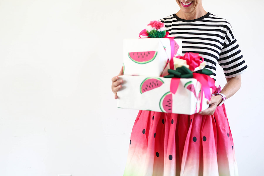 Watermelon Print Paper, How To Gift Wrap, Wrapping Paper, A food-inspired life, Libbie Summers