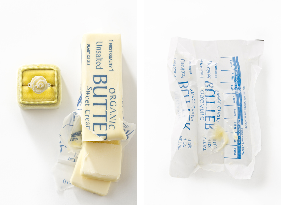 Butter, Playing with Food, Engagement Rings, Libbie Summers Food Styling, The Mrs. Box