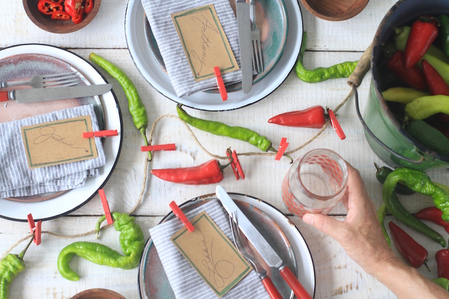 Party Decorations, Dinner Party, Hot Peppers, Libbie Summers, A food-inspired life