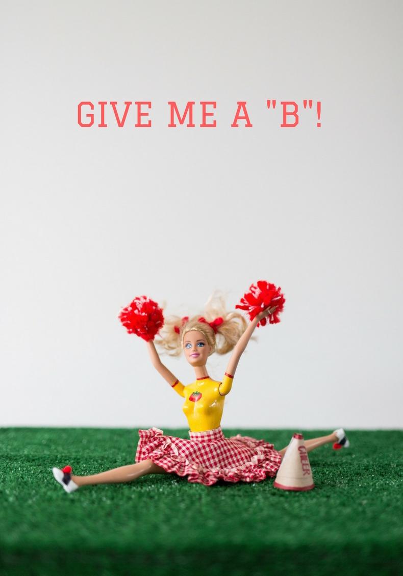 Cheerleader Barbie, Barbie outfits, What happened to Barbie, Libbie Summers, Humor Writing,