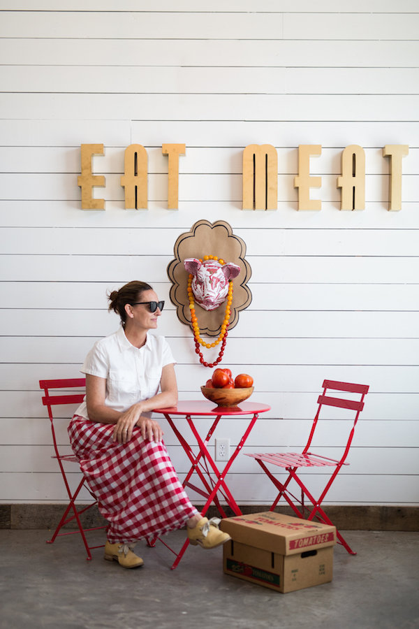 Crafts, Animal Mounts, Red Gingham, Libbie Summers, A food-inspired life