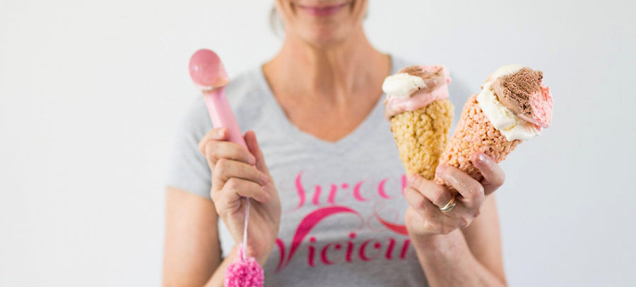 Ice Cream Cones, Uses for Rice Crispy Treats, Libbie Summers, A food-inspired life,
