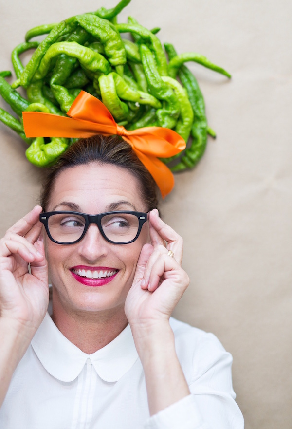 Playing with food, hot peppers, food hair, libbie summers, a food-inspired life