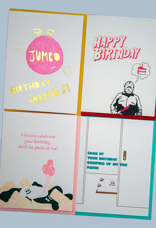 Birthday Cards from Greenwich Letterpress