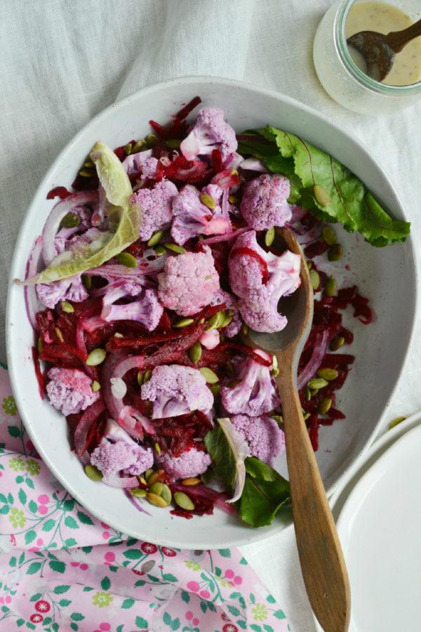 Raw Salad Recipes, Beet Recipes, Salad Recipes, Cauliflower Recipes